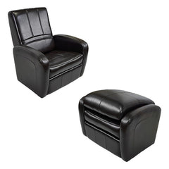 RecPro Charles Gaming Chair Ottoman w/ Storage RV Furniture Espresso
