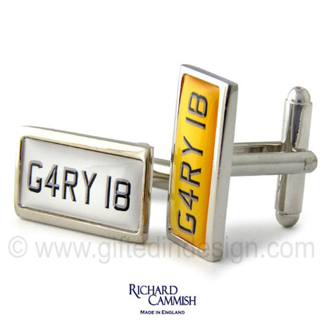 Personalised UK Car Number Plate Cufflinks - GiftedinDesign