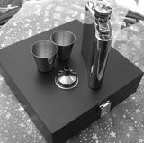 Personalised Engraved 6oz Stainless Steel Hip Flask Wooden Box Set - Giftedindesign - 3