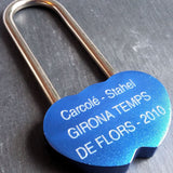 Personalised Engraved 48mm Blue LoveLock Padlock - GiftedinDesign