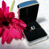 Personalised Engraved Silver Chrome Ring Case / Box - GiftedinDesign