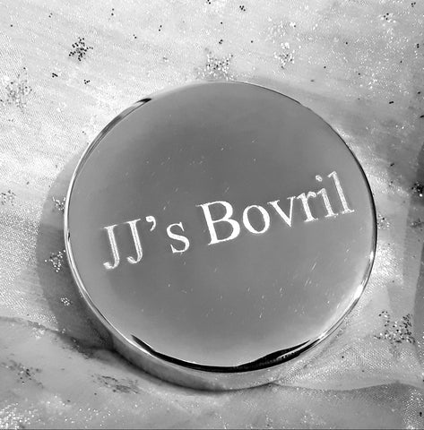 Personalised Engraved Silver Plated Savoury Spread Lid