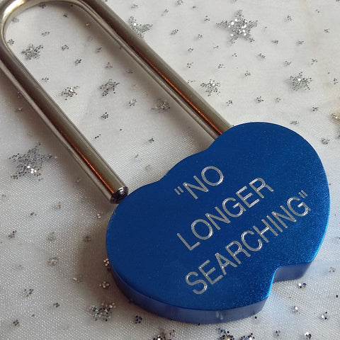 Personalised Engraved 48mm Blue One Lock Padlock - GiftedinDesign