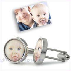 Personalised Photo/ Logo Cufflinks - GiftedinDesign