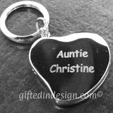 Personalised Engraved Silver Plated Heart Photo Locket Keyring - GiftedinDesign