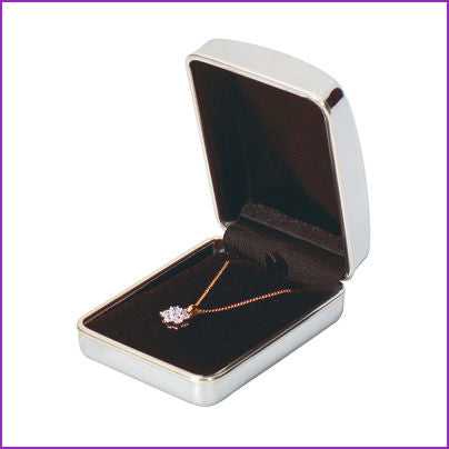Personalised Engraved Chrome Necklace / Pendant Gift Box - GiftedinDesign