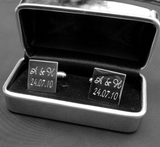Personalised Engraved Chrome Cufflink Box / Case - GiftedinDesign