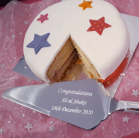 Personalised Engraved Stainless Steel Cake Slice / Server
