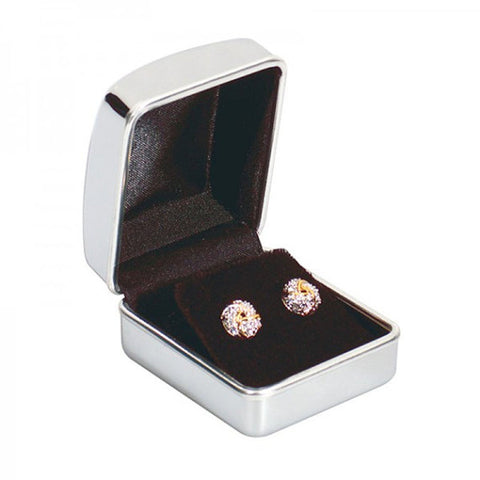 Personalised Engraved Chrome Earring Case / Box - GiftedinDesign