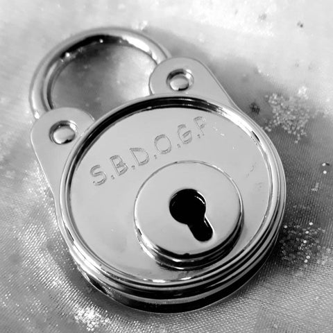 Personalised Engraved Round Silver Chrome Padlock - GiftedinDesign