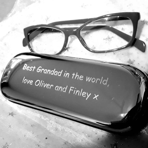 Personalised Engraved Chrome Metal Glasses / Spectacles Case - GiftedinDesign