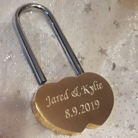 Personalised Engraved Brass One Lock Padlock (Large - 60mm) - GiftedinDesign