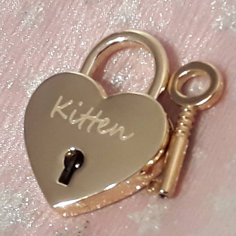 Personalised Engraved 30mm Gold Heart Padlock