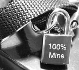 Engraved Small Steel Square Padlock & 2 Keys / Collar Lock - GiftedinDesign
