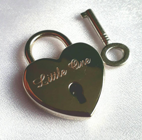 Personalised Engraved 25mm Heart Padlock - GiftedinDesign