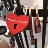 Personalised Engraved 45mm Red Heart Padlock - GiftedinDesign