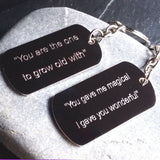 Personalised Engraved Song Lyrics / Favourite Quote Keyring - GiftedinDesign
