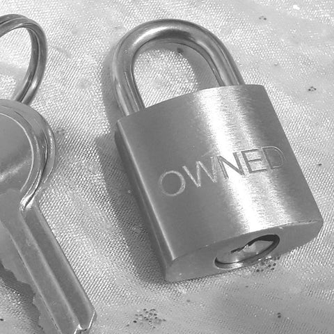 Engraved Small Stainless Steel Square Padlock
