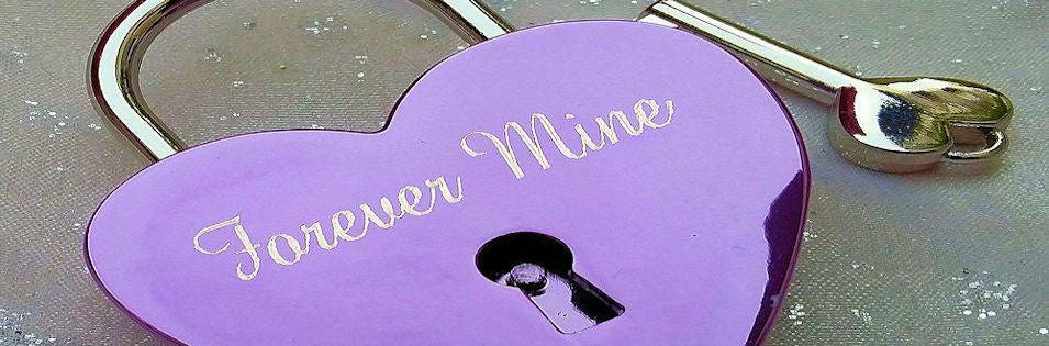 Engraved Purple Lovelock Padlock