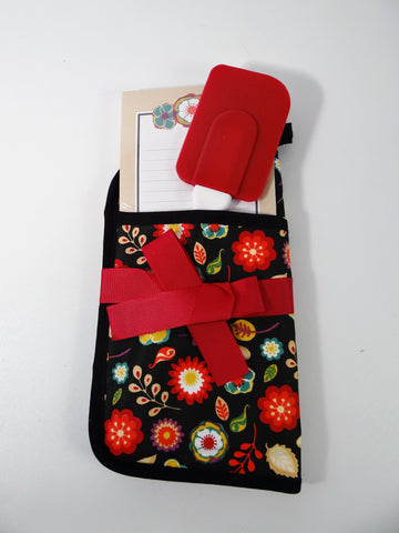 Potholder Gift Set Potholder Spatula Notepad Brownlow Black Floral