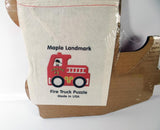 Fire Engine  Truck Puzzle Maple Landmark Toys Handcrafted $17.99