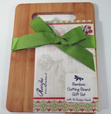 """Garden Veggies"" Bamboo Cutting Board Gift Set Recipe Cards Brownlow $15.00"