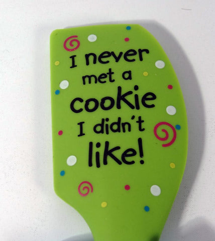 "Brownlow Silicone Spatulas ""Never Met a Cookie I didn't Like"