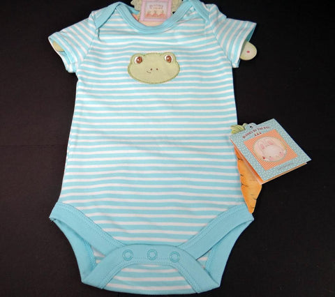 Ribbit Ribbit Bunsie Bunnies by the Bay Baby Onsie 3-6 Months