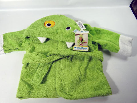 My Little Monster Spa Robe Lime Aspen