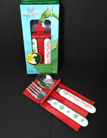 Puff Magic Dragon Set Fork & Spoon Ensemble 6+ Months