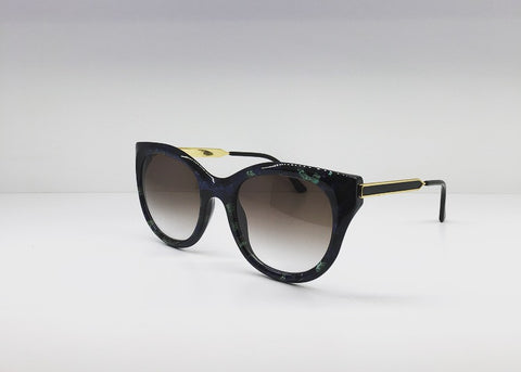 SEATTLESUNGLASS.COM: DIRTYMINDY BLUE TORTOISE CAT-EYE BY THIERRY LASRY