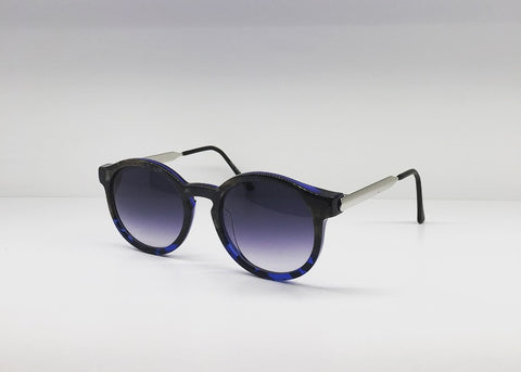 SEATTLESUNGLASS.COM: SILENTY BLUE CORAL ROUND-FRAME BY THIERRY LASRY