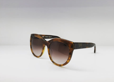 SEATTLESUNGLASS.COM: SUGGESTY BROWN CAT EYE FRAME BY THEIRRY LASRY