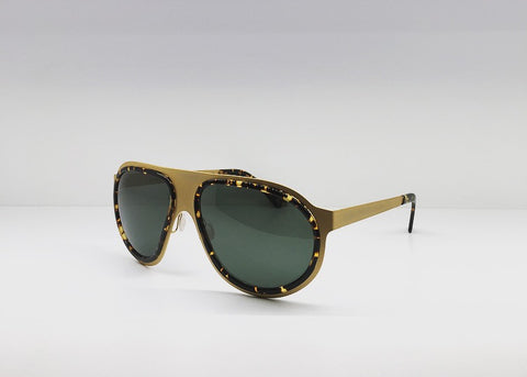 SEATTLESUNGLASS.COM: Comoros aviator-frame and gold-tone sunglasses BY L.G.R