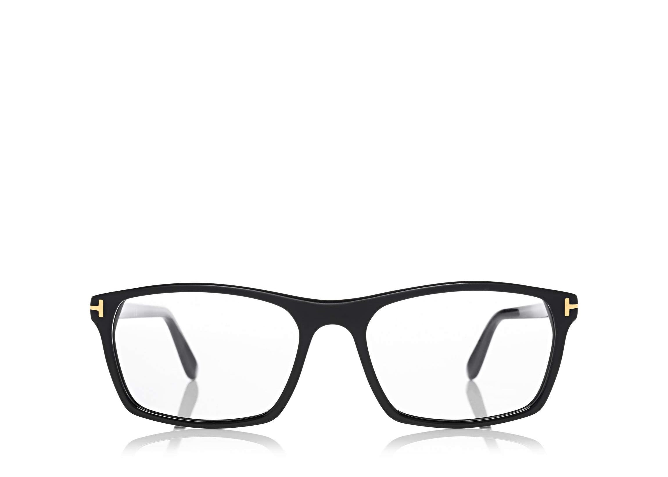 198cfe9a9a14 6468975705 TOM FORD FT-5295 UNISEX BLACK SQUARE-FRAME OPTICAL GLASSES ...