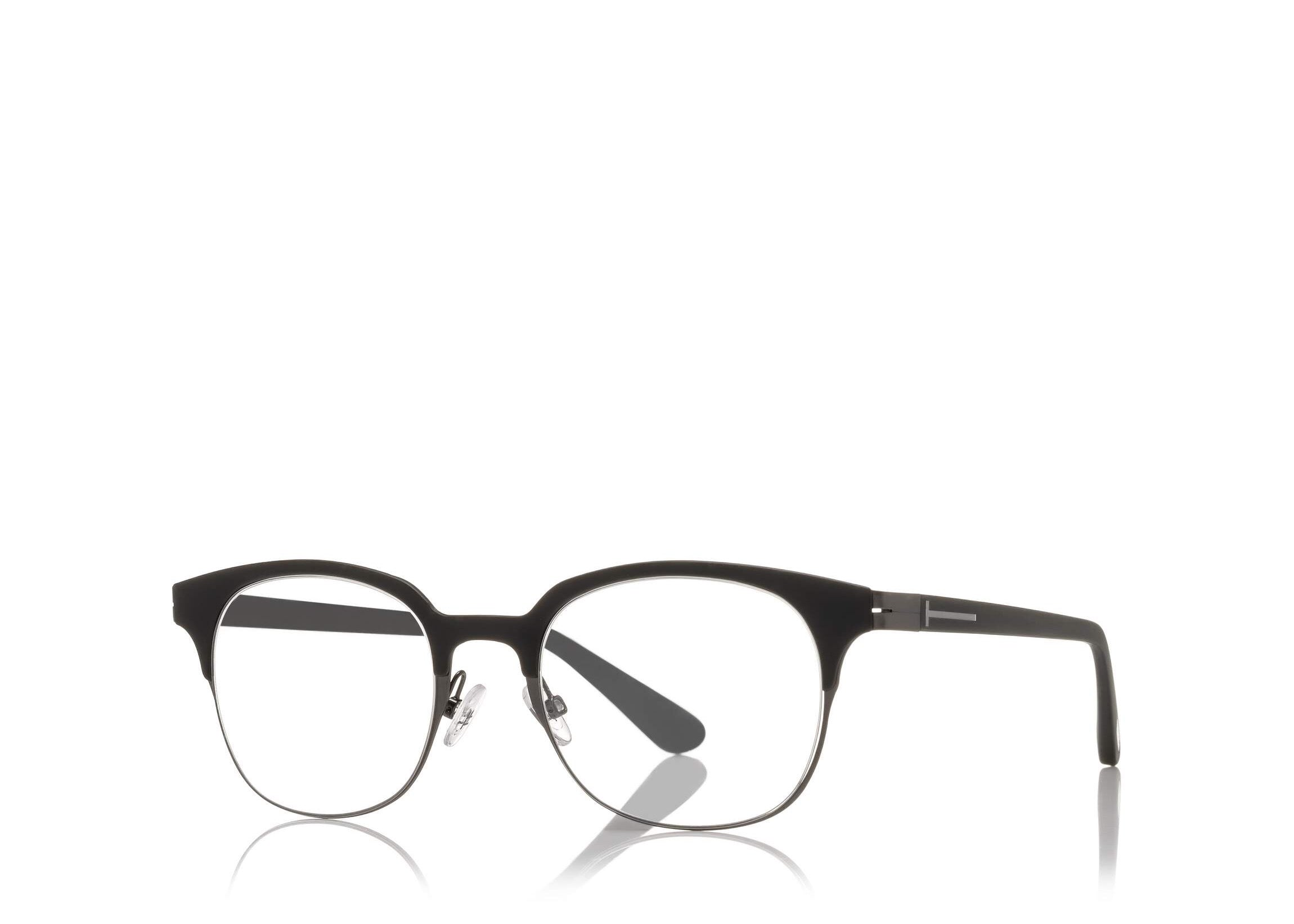 TOM FORD FT 5347 BLACK ROUND-FRAME OPTICAL GLASSES - Seattle ...
