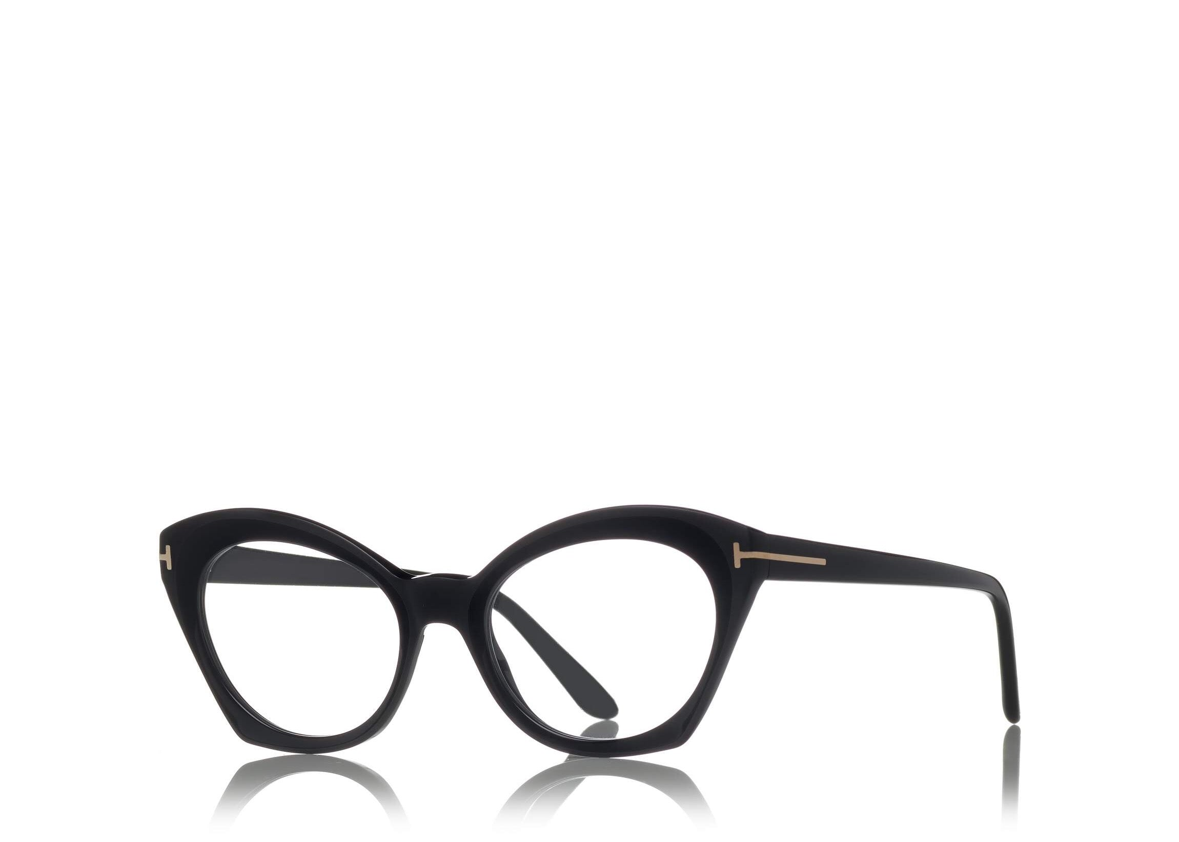 59483b77f1a ... 6468985963 TOM FORD FT 5456 BLACK CAT-EYE FRAME OPTICAL GLASSES