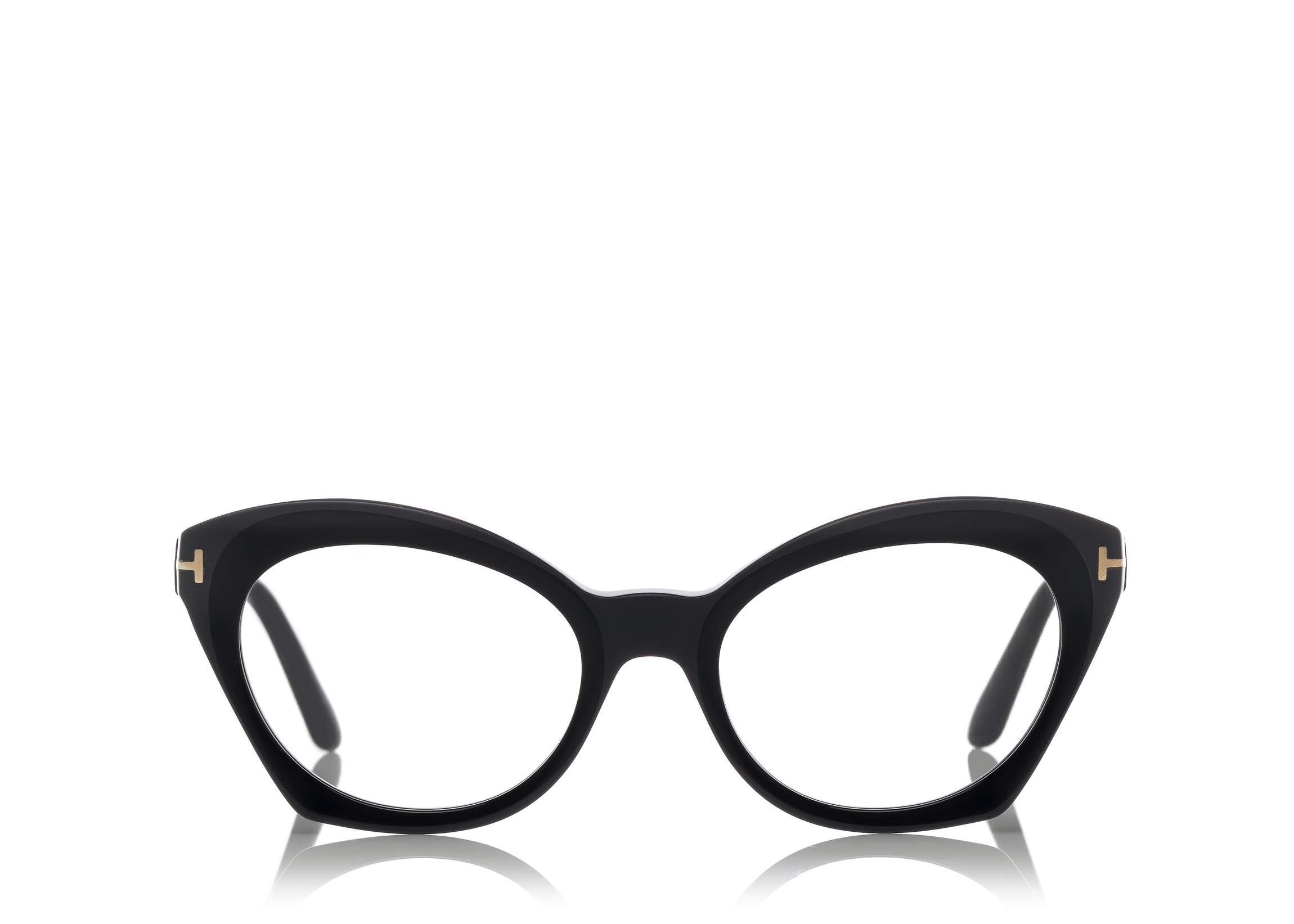 adc10915720 6468985963 TOM FORD FT 5456 BLACK CAT-EYE FRAME OPTICAL GLASSES ...