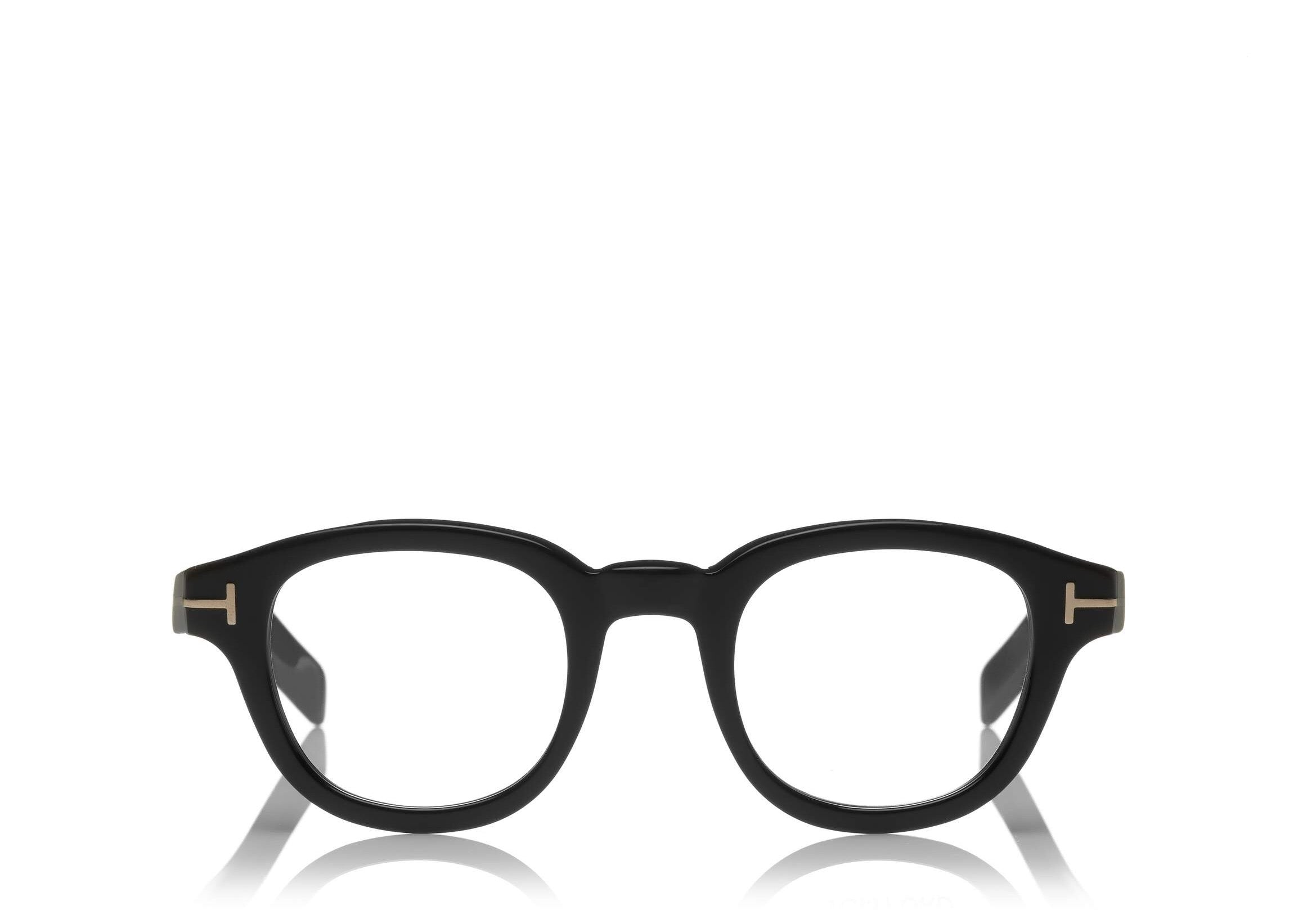 8119485d009 6468981328 TOM FORD FT 5429 BLACK ROUND-FRAME OPTICAL GLASSES ...