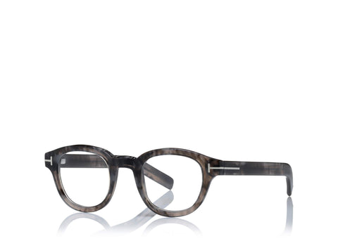 1f1ca49425ea 6468981331 TOM FORD FT 5429 UNISEX GREY ROUND-FRAME OPTICAL GLASSES