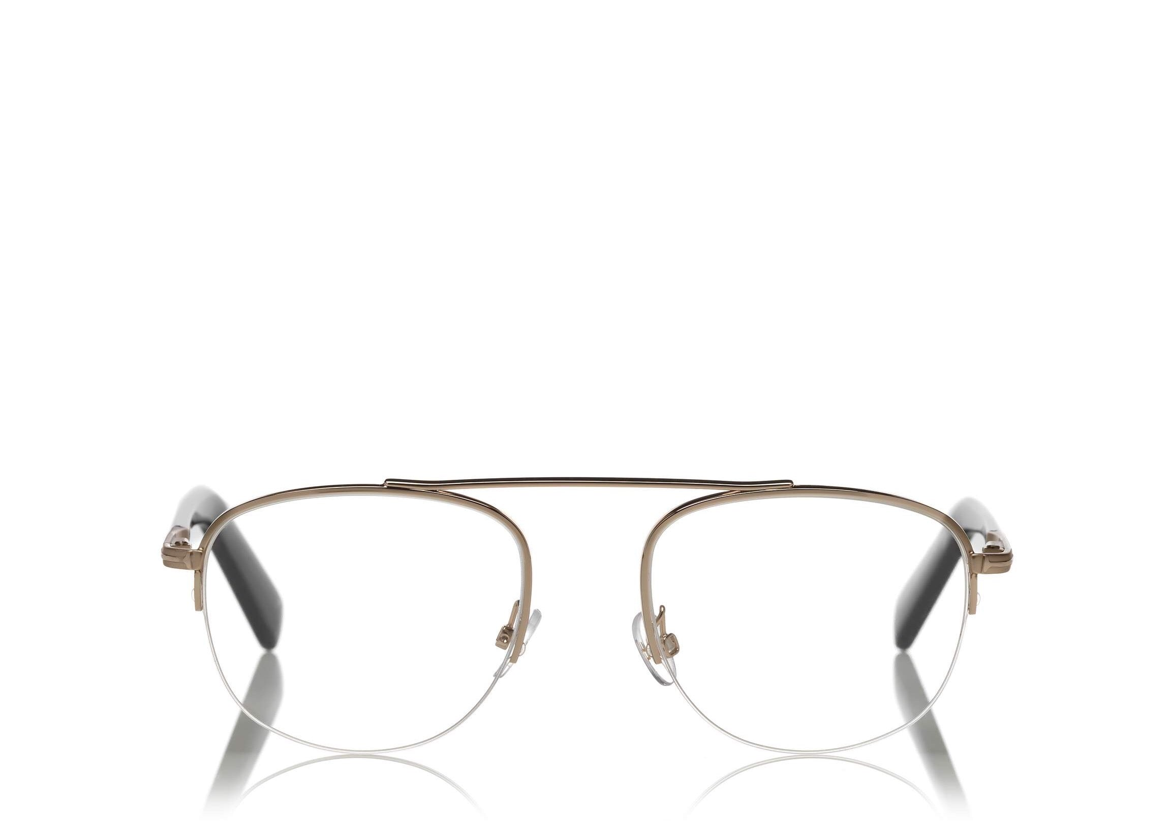492a5ad80f 6468985934 TOM FORD FT 5450 ROSE GOLD AVIATOR-FRAME OPTICAL GLASSES ...