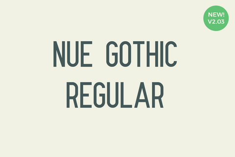 Full version of Nue Gothic Regular