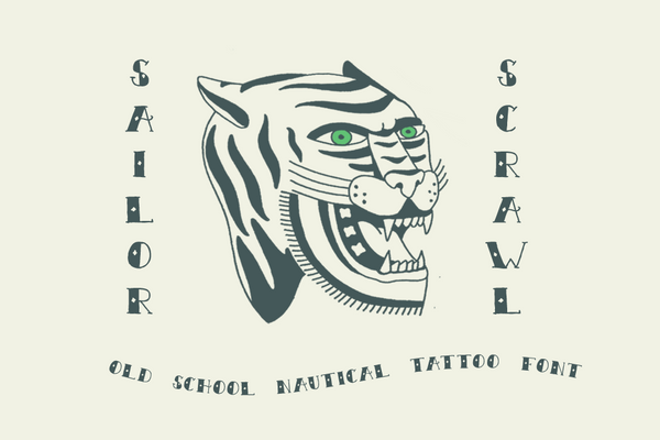 Sailor Scrawl Old School Tattoo Font by Out of Step Font Company