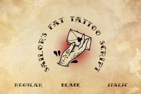 Sailor's Fat Tattoo Script