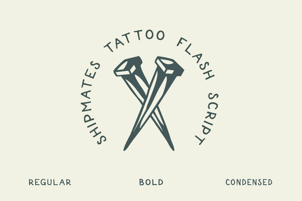 Shipmates sans serif tattoo font by Out of Step Font Company