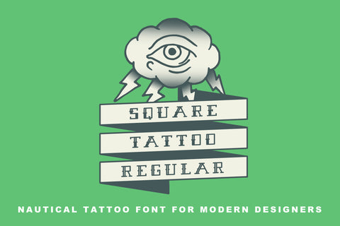Square Tattoo Font