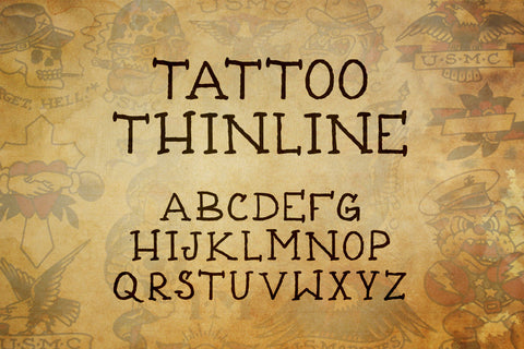 Tattoo Font Collection – Out Of Step Font Company