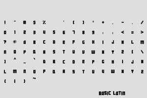 Botsmatic Regular pixel font by Out of Step Font Company