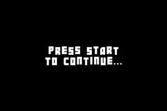 Press Start screen featuring Botsmatic font by Out of Step Font Company