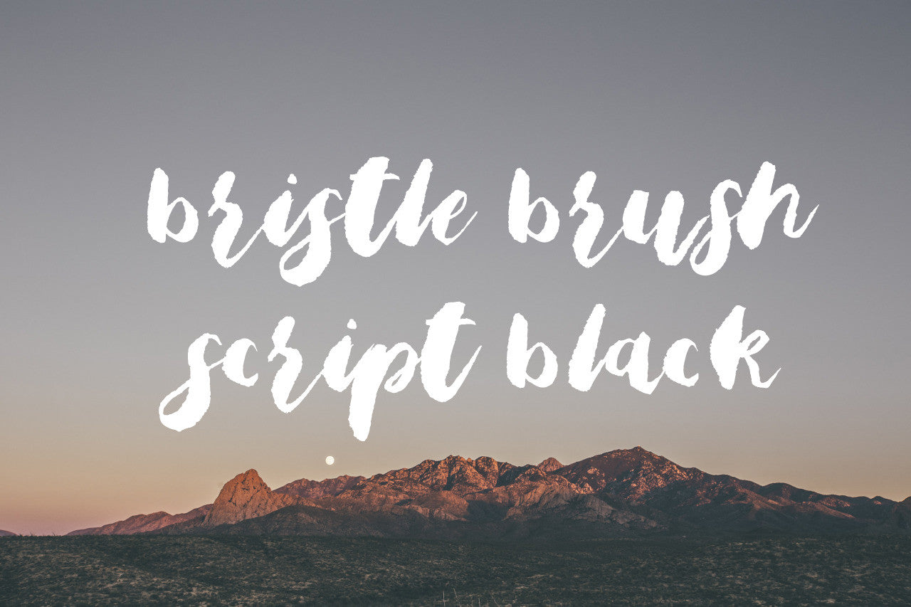 Bristle Brush Script Black modern calligraphy handwriting font by Out of Step Font Company - outofstepfontco.com